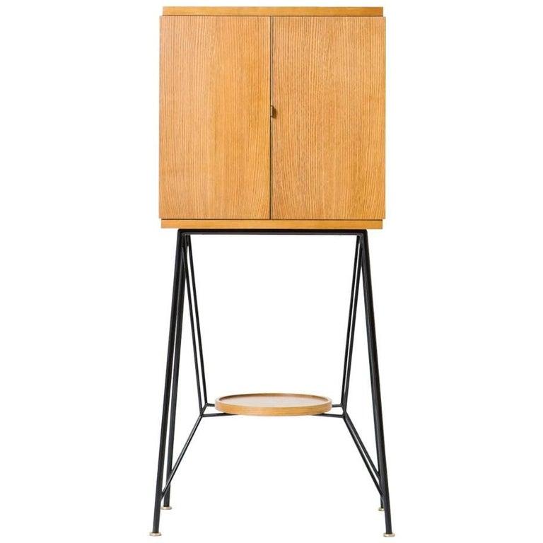Art Deco Bar Cabinet '69' - Oak venner, Metal and Brass