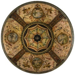 Late 19th Century Terracotta Grand Tour Painted and Decorated Plate