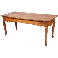 Louis XV Provincial Style Fruit Wood Farm Table