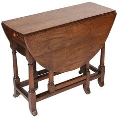 English Oak Gate Leg Table