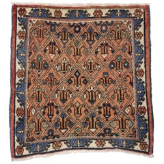 Vintage Persian Tabriz Accent Rug, Perfect for Kitchen, Foyer or Entryway Rug