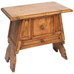 Baroque Style Walnut Occasional Table