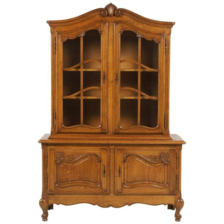 Vintage Belgian Oak China Cabinet For Sale - Vintage Belgian Oak China Cabinet For Sale At 1stdibs