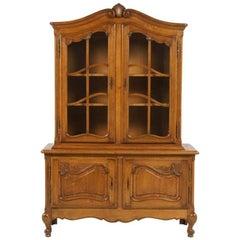 Vintage Belgian Oak China Cabinet