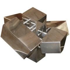 Geometric Aluminium Sculpture by California Artist Casey Cross