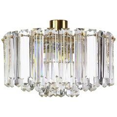 Stunning Brass, Crystal Glass Light Fixture Floria, Kalmar, Austria, 1970