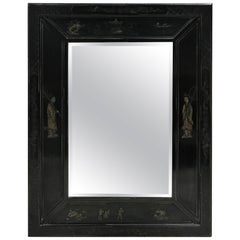 Japanned Lacquered Mirror by Mailtland Smith