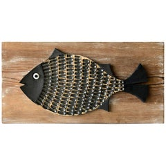 Doyle Lane Ceramic Fish Plaque Sculpture