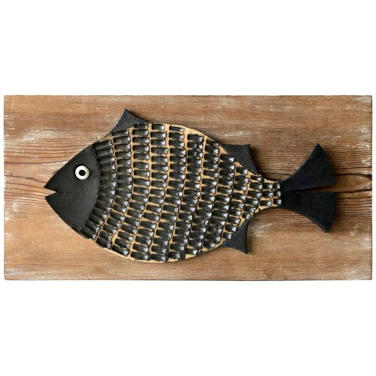 Doyle Lane Ceramic Fish Plaque Sculpture