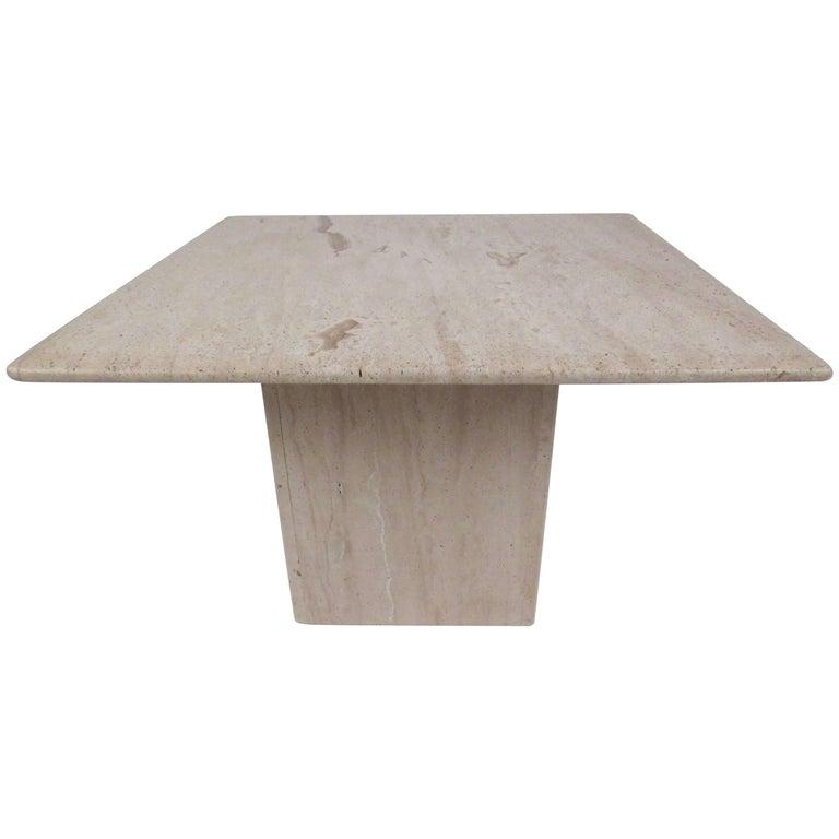 Midcentury Travertine Coffee Table