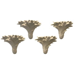 Four Palm Leaves Wall Sconses by Sirmos