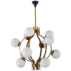 Twelve Globe Chandelier by Stilnovo