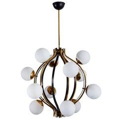 Twelve-Globe Chandelier by Stilnovo
