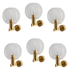 Six Sconces by Hans-Agne Jakobsson