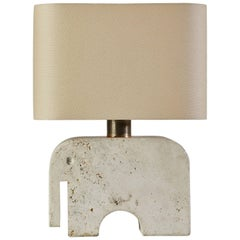 Travertine Elephant Table Lamp by Fratelli Manelli