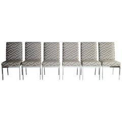 Milo Baughman Design Institute of America Dining Chairs Set of Six