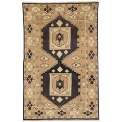 Vintage Persian Mahal Rug with Modern Tribal Style