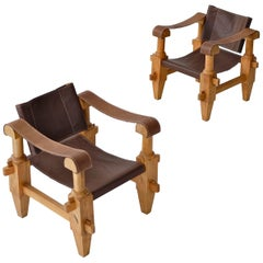 Pair of Mexican Campaign Chairs