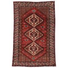 Vintage Nahavand Hamadan Persian Area Rug with Tribal Style