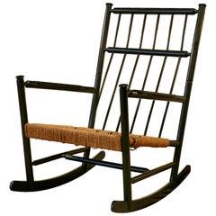 Large 1960s Scandinavian Rocking Chair