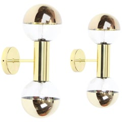 Midcentury Pair of Wall Sconces Design Motoko Ishii by Staff, Germany, 1970s