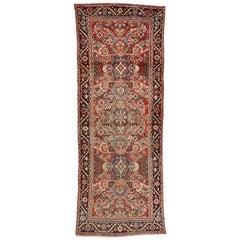 Vintage Persian Mahal Runner, Traditional Style Hallway Runner