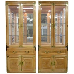 Pair of Bernhardt Chinoiserie Cabinets