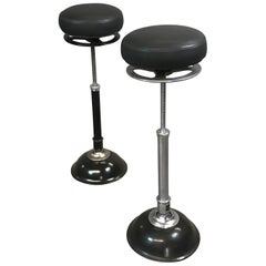 Industrial Adjustable Articulating Leather Medical Stools