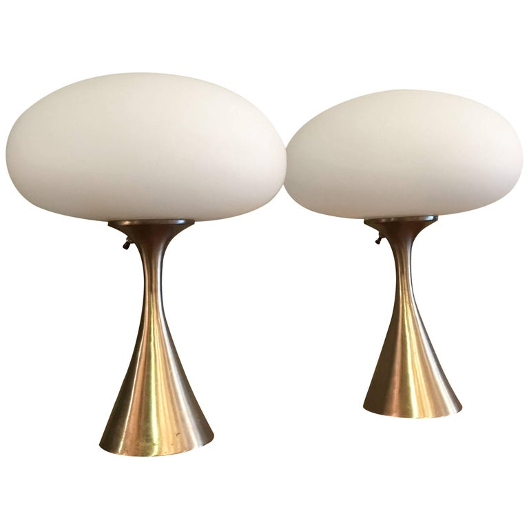 Pair of Mushroom Table Lamps by Bill Curry for Laurel
