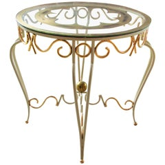Art Deco Wrought Iron Table by Rene Prou
