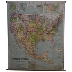 Early 20th Century Map of the United States and Mexico, 1916 Edition