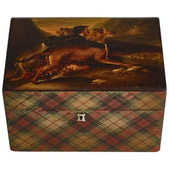 Large Mid-19th Century Signed Royal Stuart Tartan Box, Circa 1830