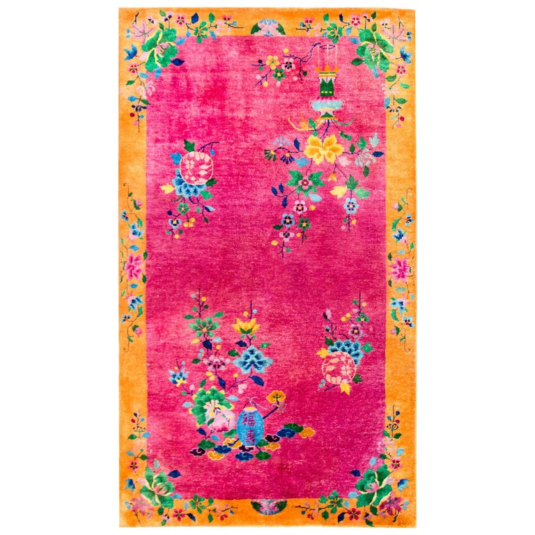 Briliant Chinese Art Deco Rug For Sale At 1stdibs