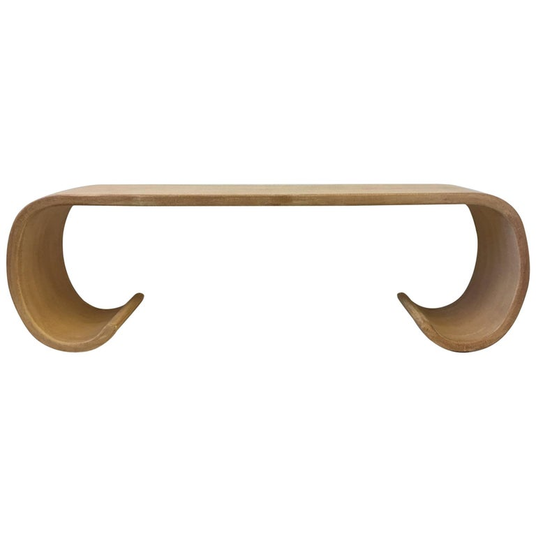 Scroll Console Table in the Manner of Karl Springer