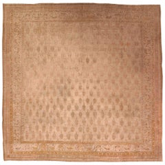 Vintage Indian Cotton Agra Carpet