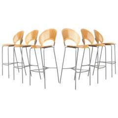 Trinidad Barstool by Nanna Ditzel for Fredericia Furniture, Set of Six