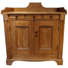 Canadian Two-Door, Three-Drawer Small Pine Buffet