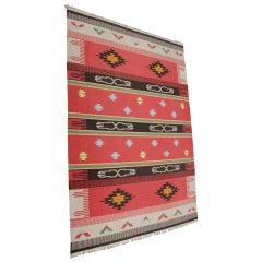 Big Indian Kilim Carpet / Rug