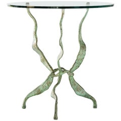 Side Table by Salvino Marsura, Hand-Forged Steel, Late 20th Century