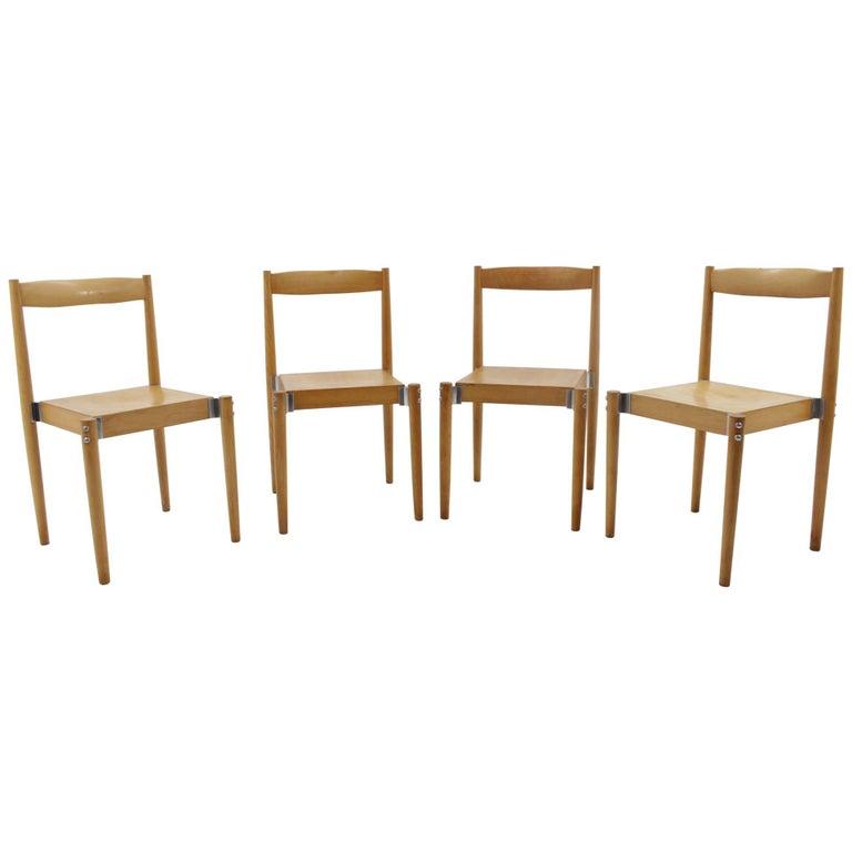 Set of Four Miroslav Navrátil Chairs, Publicated