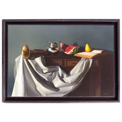Oil on Canvas Still Life by Nicolas Fasolino