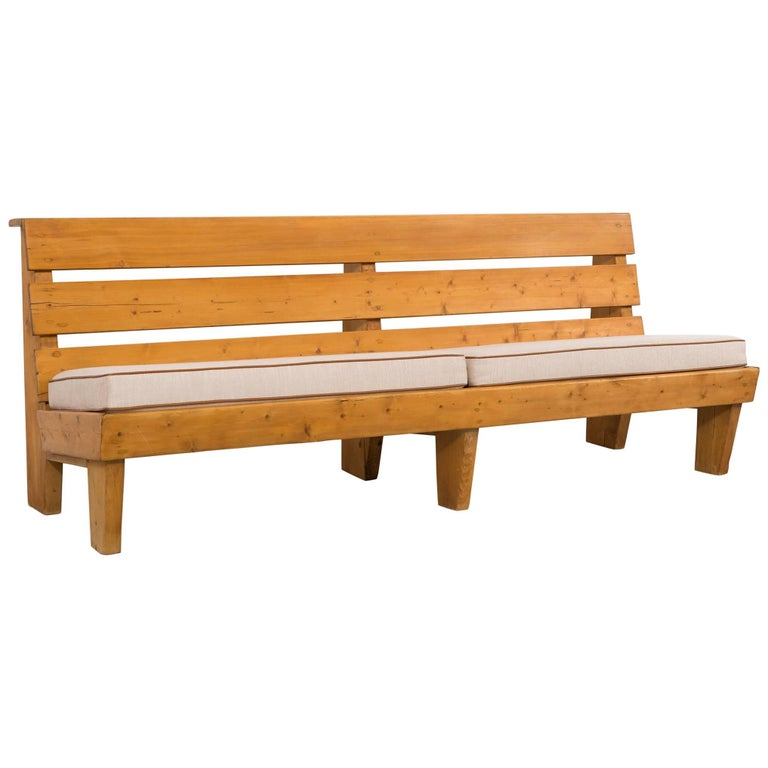 Bench for Marie Blanche Hotel by Charlotte Perriand