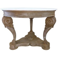 Hand-Crafted Marbletop Center Table by William Switzer 'Vancouver, B.C.'