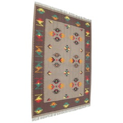 Big Indian Style Kilim Rug or Carpet