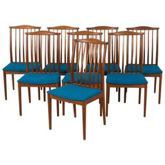Eight Scandinavian Midcentury Dining Chairs in Teak