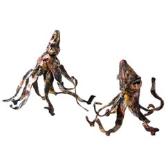 Octopus Sculptures, Wrought Iron, 21st Century