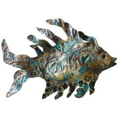 Fish Sculpture Wrought Iron, 21st Century