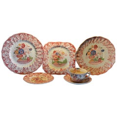 Royal Doulton Pomeroy Red Multi-Color Center Design China