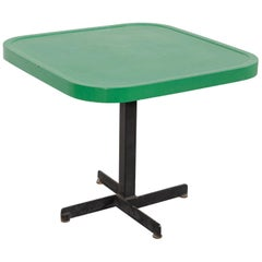 Les Arcs Enameled Metal Green Table by Charlotte Perriand