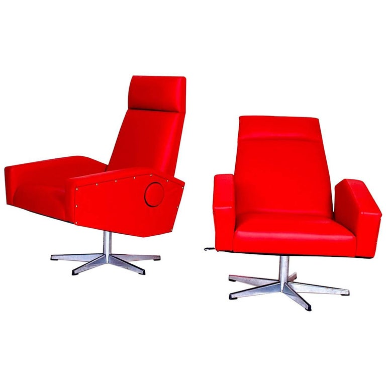 Pair of Adjustable Armchairs For Sale